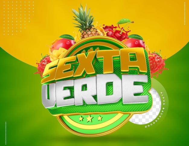 Druga zielona etykieta 3d do składu w brazylii