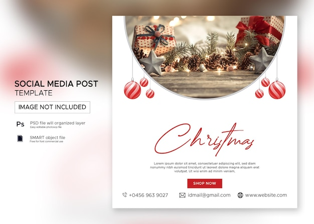Drukujwyprzedaż świątecznych banerów post na instagramie premium psd