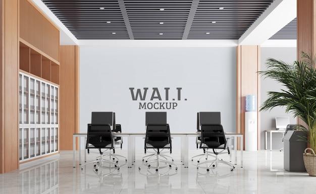 Duża i nowoczesna przestrzeń do pracy. makieta ścian