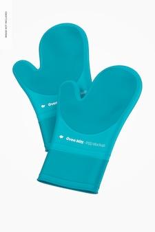 Duża makieta silikonowych rękawic kuchennych, pływająca