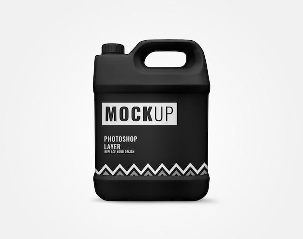 Duży czarny galon butelki cieczy