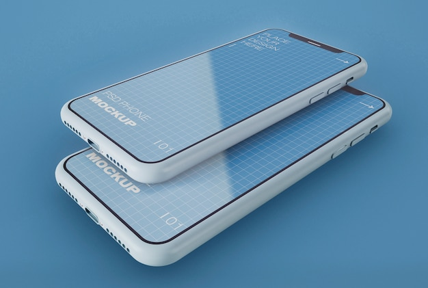 Dwa makiety smartfonów