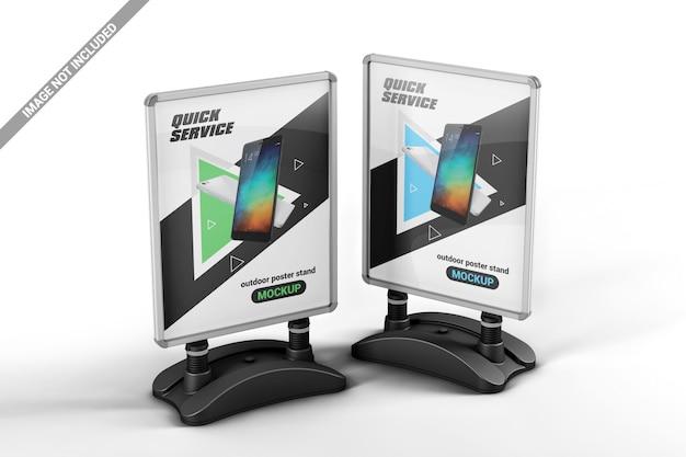 Dwa stojaki reklamowe na makiety plakatów