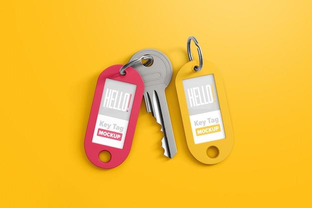 Dwa tagi z kluczową makietą
