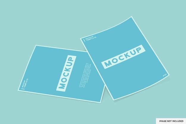Dwie broszury a4 lub szablon makiety przezroczystych