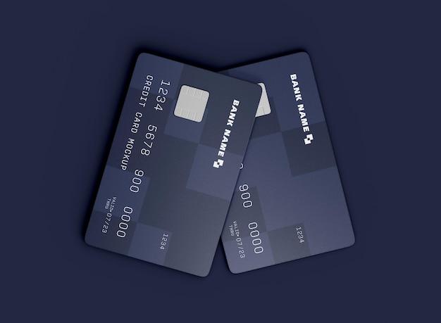 Dwie karty kredytowe mocku
