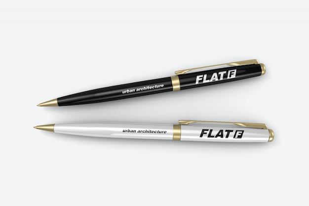 Dwie luksusowe długopisy makieta
