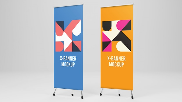 Dwie makiety x-banner
