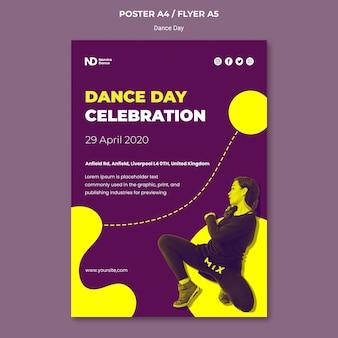 Dwukolorowy szablon wydruku dnia tańca