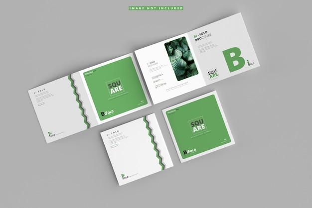 Dwukrotnie składana makieta broszury