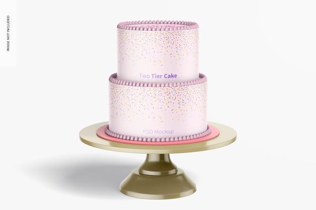 Dwupoziomowa makieta ciasta