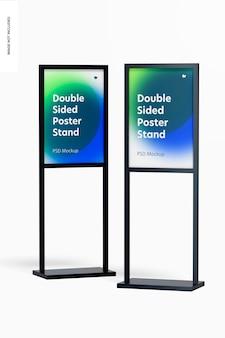 Dwustronne stojaki na plakaty makieta
