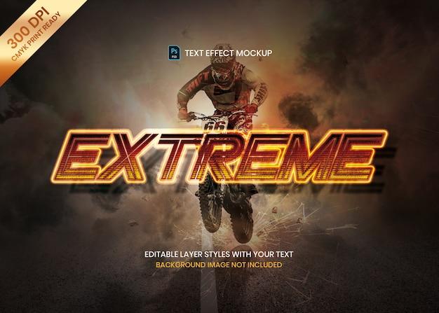 Dynamiczny, energiczny sportowy tekst efekt logo szablon psd.