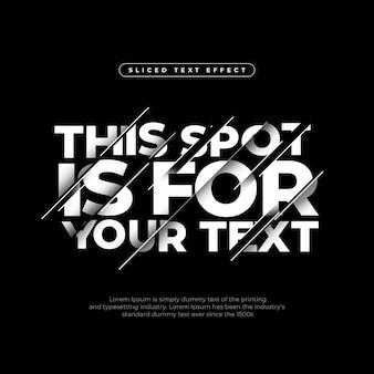 Dynamiczny nowoczesny efekt skrojonego tekstu