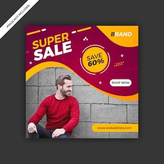 Dynamiczny nowoczesny portal społecznościowy post sprzedaż baner