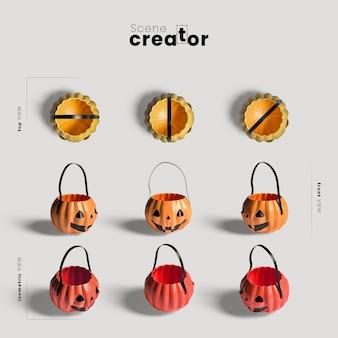 Dyniowa torba różnorodność twórców scen halloweenowych