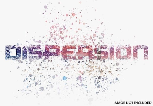Dyspersyjny efekt fotograficzny z makietą rozchlapywania farby