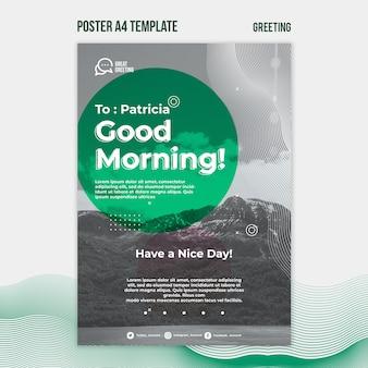 Dzień dobry szablon plakatu tekstowego
