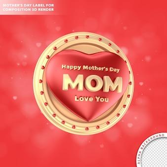 Dzień matki tekstu dla kompozycji render 3d