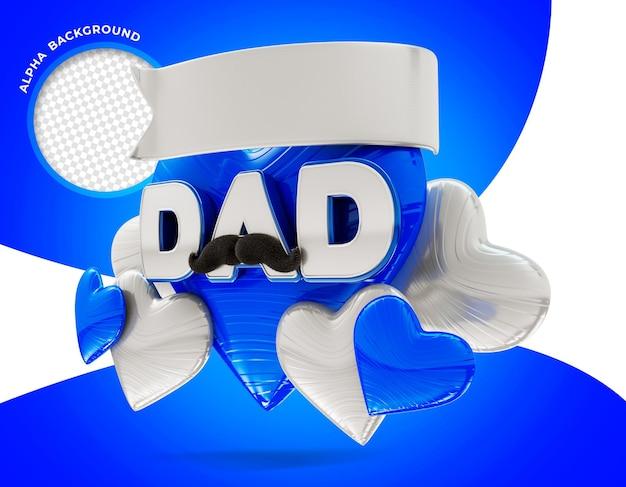 Dzień ojca logo 3d render