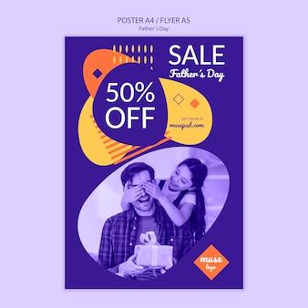 Dzień ojca sprzedaż plakat szablon projektu