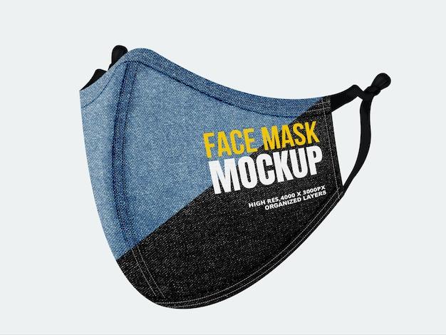 Dżinsowa-maska-na-twarz-makieta-z-podwójną-teksturą