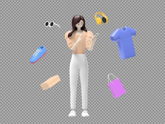 E-commerce znak 3d ilustracji