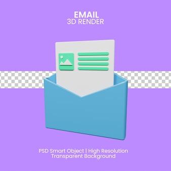E-mail marketing ilustracja 3d