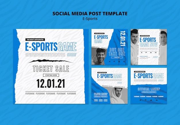 E-sportowe posty w mediach społecznościowych