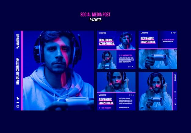 E-sportowy Szablon Projektu Postów W Mediach Społecznościowych Darmowe Psd