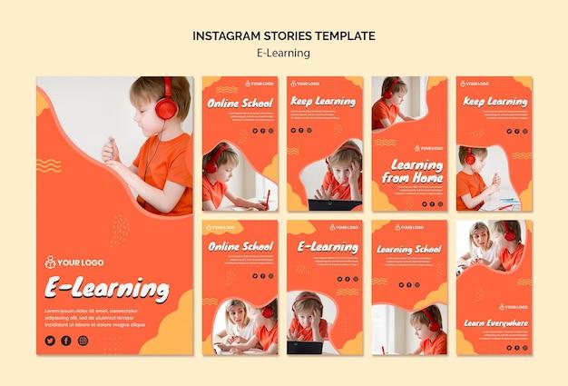 E uczące się historii na instagramie
