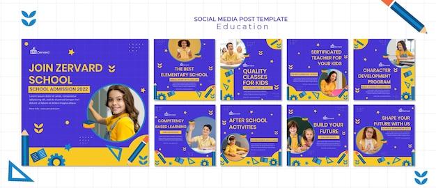 Edukacyjne posty w mediach społecznościowych