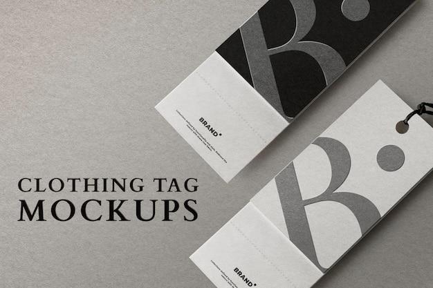Edytowalna etykieta odzieżowa minimalna reklama