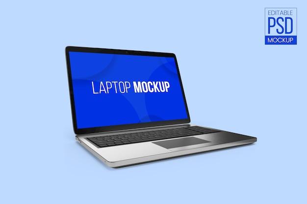 Edytowalna makieta laptopa