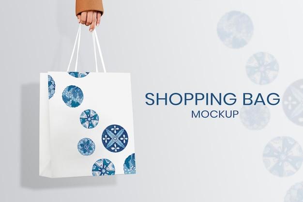 Edytowalna makieta torby na zakupy psd