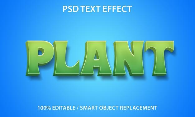 Edytowalna roślina z efektem tekstowym