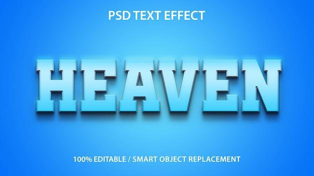 Edytowalne niebo efekt tekstowy