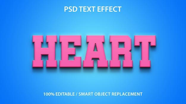 Edytowalne serce efekt tekstowy