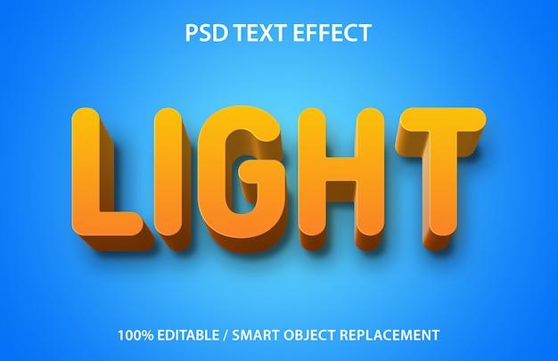 Edytowalne światło efektu tekstowego