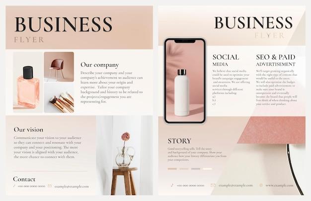 Edytowalne szablony ulotek biznesowych