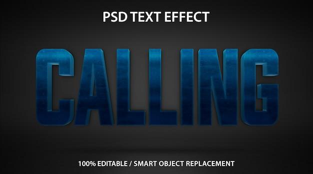 Edytowalne wywołanie efektu tekstowego