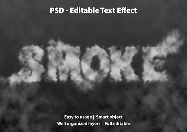 Edytowalny dym efekt tekstowy