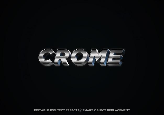 Edytowalny efekt tekstowy 3d crome