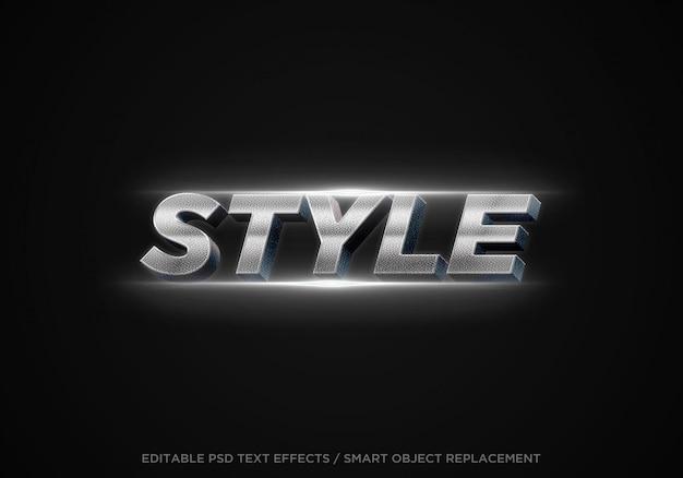 Edytowalny efekt tekstowy 3d w stylu metalowym