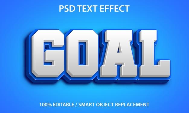 Edytowalny efekt tekstowy blue goal premium