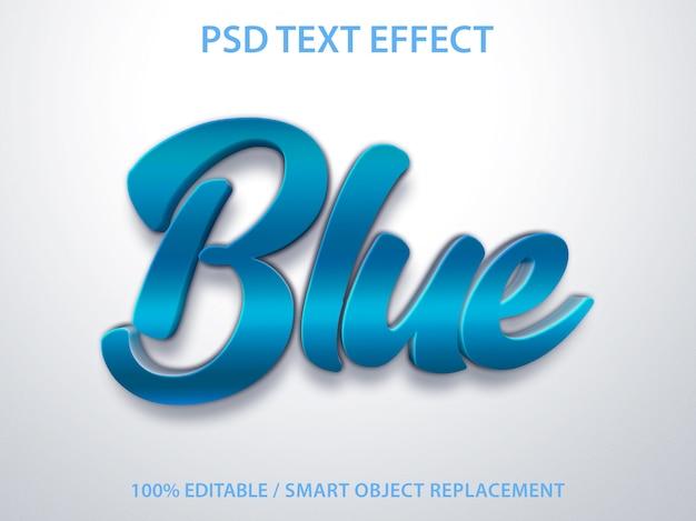 Edytowalny efekt tekstowy blue premium