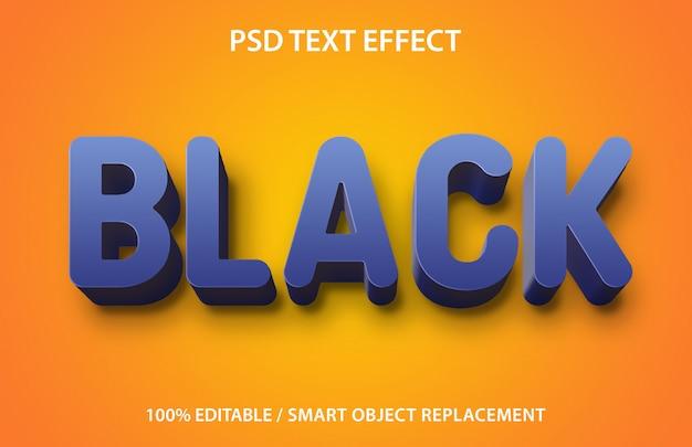 Edytowalny efekt tekstowy czarny
