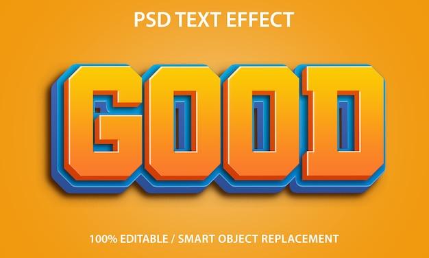 Edytowalny efekt tekstowy dobry