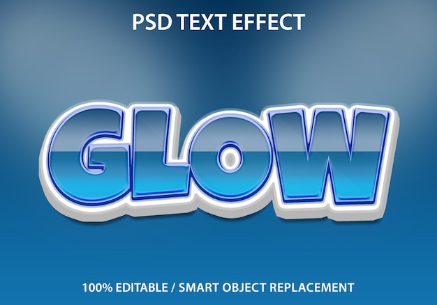 Edytowalny efekt tekstowy glow premium
