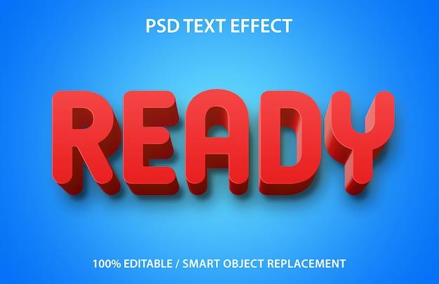 Edytowalny efekt tekstowy gotowy